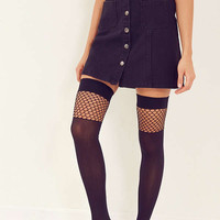 Pattern Block Fishnet Over-The-Knee Sock | Urban Outfitters