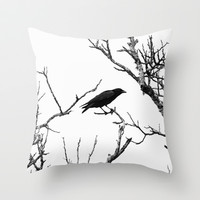 The Raven Throw Pillow by SSC Photography