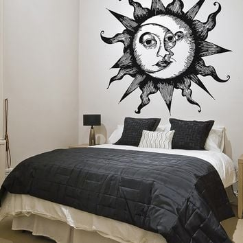 Celestial Moon & Sun Wall Decal Home Decor. #OS_AA815