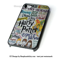 Harry Potter Collages Art iPhone 4 4S 5 5S 5C 6 6 Plus , iPod 4 5  , Samsung Galaxy S3 S4 S5 Note 3 Note 4 , and HTC One X M7 M8 Case