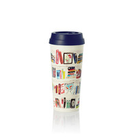 kate spade new york 16 oz Thermal Mug - Library Book Shelf