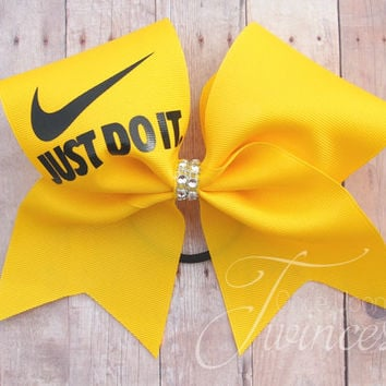 Cheer Bow Just Do It - Bows for Cheer Teams - Competition Bows - Practice Bows