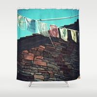 Flags Shower Curtain by LJehle Photography