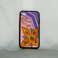 That's Happiness, iPhone case, iPhone 4/4s, Florence and the Machine, song lyric, happy, love, flower, gift, unique, one of a kind, indie