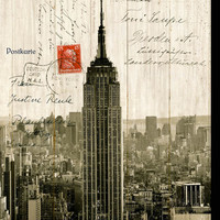 100 Essentials Empire State Building Postcard Vintage Advertisement