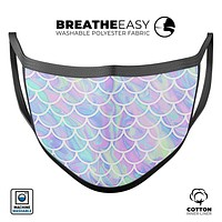 Iridescent Dahlia v8 - Made in USA Mouth Cover Unisex Anti-Dust Cotton Blend Reusable & Washable Face Mask with Adjustable Sizing for Adult or Child