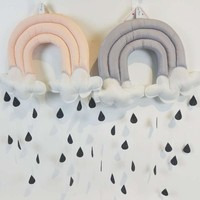 Cotton Kids Play Tent Decoration -Raining Clouds