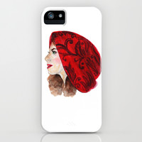 RED RIDING HOOD  iPhone & iPod Case by Lauren Lee Designs