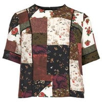 Patchwork Piped Tee - Multi