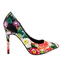 Chinese Laundry Neapolitan - Black/Red Leather Pointed Toe Pump
