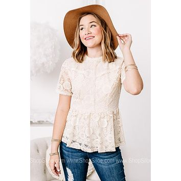 She Is Beauty She Is Lace Babydoll Style Top