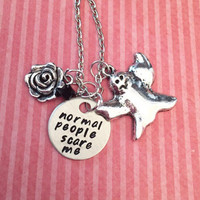Normal People Scare Me Necklace - AHS Inspired Jewelry - Fandom Jewelry - American Horror Story Inspired Jewelry - Tate Jewelry