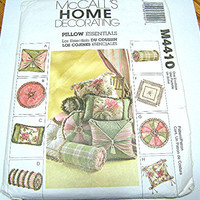 McCall's Pillow Essentials Sewing Pattern, M4410, New, Uncut, 8 Designs