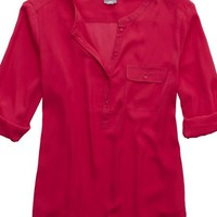 Aerie Women's Silky Button Down Shirt