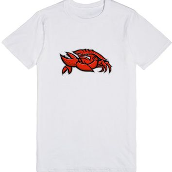 Angry Red King Crab Mascot