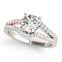 Two Tone Multi-Row Engagement Ring