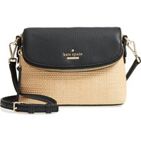 kate spade new york jackson street – harlyn straw & leather crossbody bag | Nordstrom