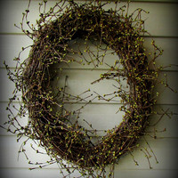 "Oval Sage Green Pip Berry Wreath - Simple and Pretty- 28"" GORGEOUS -NEW"