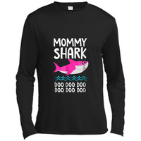 Mommy Shark  Doo Doo Daddy Baby Grandma Video  Long Sleeve Moisture Absorbing Shirt