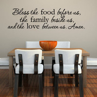 Wall Decal Vinyl Sticker Decals Art Decor Design Prayer Amen Bible Holydays Food Sign Family Quote Dining Room Kitchen Living Room (r171)