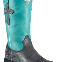 Ariat Crossroads Neon Blue Cowgirl Boots - Square Toe - Sheplers
