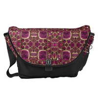 Ruby Red Pink Gold Gemstone Pattern Elegant Chic Courier Bag
