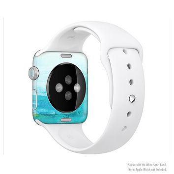 The Grungy Blue Watercolor Surface Full-Body Skin Kit for the Apple Watch