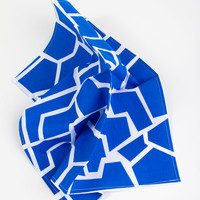 Two Table Napkins, Deep Blue – Project No. 8