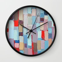 Internodal Stalks Wall Clock by Ann Marie Coolick | Society6