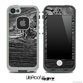 Wood Knot Greyscale Skin for the iPhone 5 or 4/4s LifeProof Case