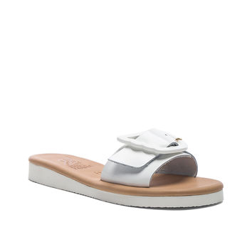 Ancient Greek Sandals Leather Aglaia Sandals in White | FWRD