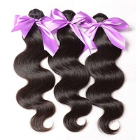 """Mixed length 20"""" 22"""" 24"""" Loose Wave Brazilian Extensions"""