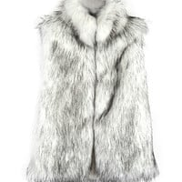 Artificial Fur Sleeveless Coat