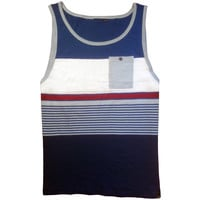 Trails Pocket Tank Blue/Red