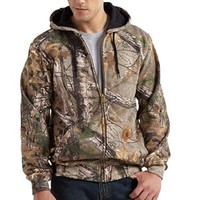Carhartt Men's Realtree Xtra Work Camo Hooded Zip Front Sweatshirt