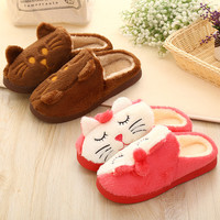 Cartoons Couple Cotton Winter Lovely Ladies Home Anti-skid Slippers [9067741252]