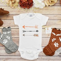 Arrows Shirt, Boho Baby Clothes, Baby Shower Gift