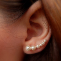 Pearl Ear Pins