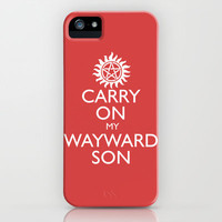 SUPERNATURAL CARRY ON MY WAYWARD SON iPhone & iPod Case by thischarmingfan