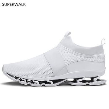 men's casual shoes, lightweight breathable, elastic soles