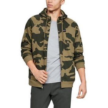 Under Armour Mens Rival Fleece Camo Full Zip Hoodie, Choose Sz/Color