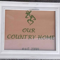 Our country home sign-distressed sign-rustic decor sign-country decor sign