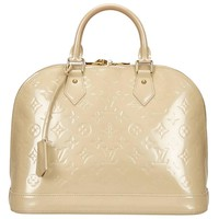 Louis Vuitton Vernis Alma PM in Beige
