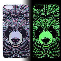 Panda Luminous Light Up creative case Cover for iPhone 5s / iPhone 6s / iPhone 6s Plus