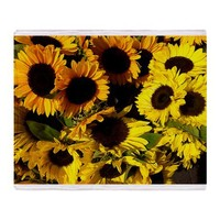 Sunflower Throw Blanket by BTE125Tees