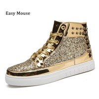 2018 Lover's Skateboarding Sneakers Shoes Bullock  Plein Shoes Gold Outdoor Athletic Sport Shoes Chelsea Shoes Lace-up Sapatos