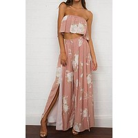 PRETTY IN PINK TWO PIECE PANTS SET