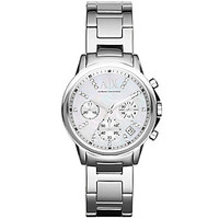 AX Armani Exchange Ladies' Chronograph Stainless Steel Case Watch - Si