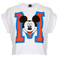 Mickey M Crop Top - Jersey Tops - Clothing - Topshop USA