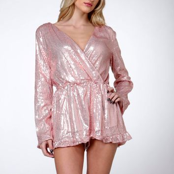 after party glitz and glam sequin romper